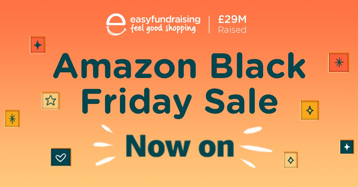 The Amazon Black Friday sale has started! Use #easyfundraising to raise FREE donations when you shop to support your good cause! If you support a registered charity, you will have to shop using Amazon Smile. efraising.org/760zfdiqqL