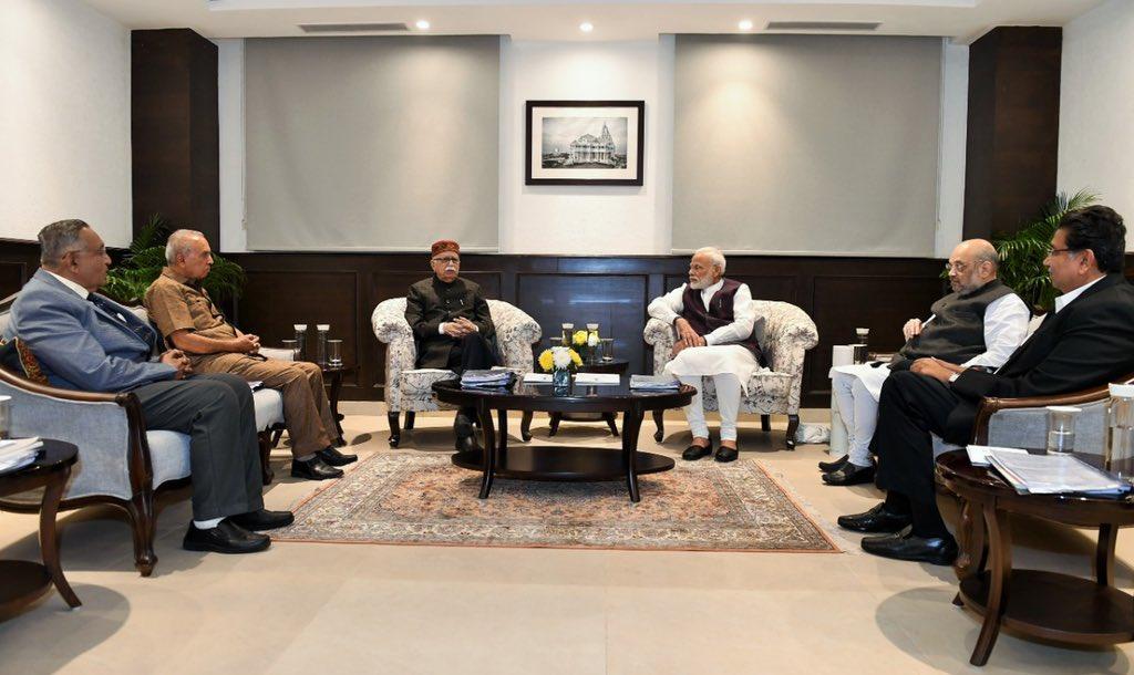 Modi, Advani, Shah attend Shri Somnath Trust meeting