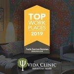 Image for the Tweet beginning: Vida Clinic has been named