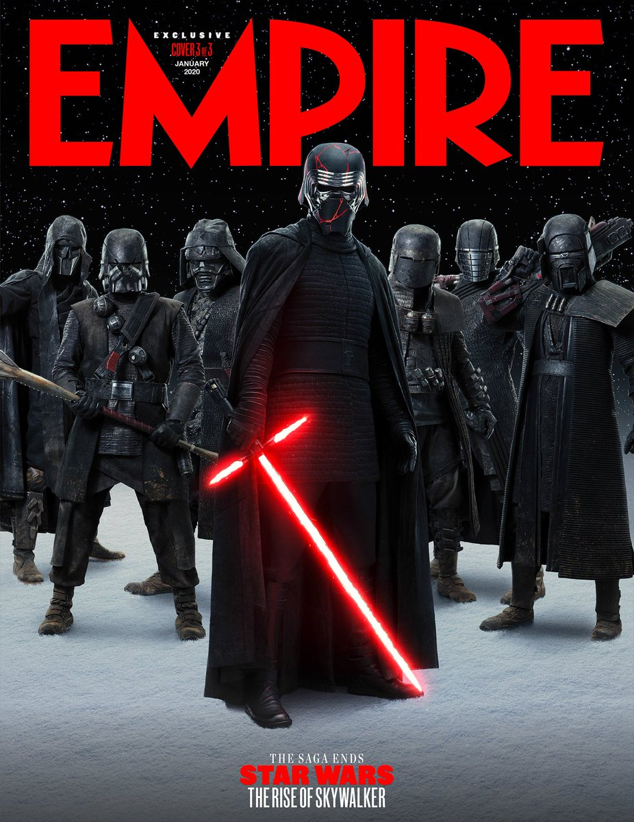 @starwars @StarWarsUK The third of Empire's three exclusive collectible #TheRiseOfSkywalker covers for our biggest ever #StarWars issue – Supreme Leader Ren and the Knights Of Ren.