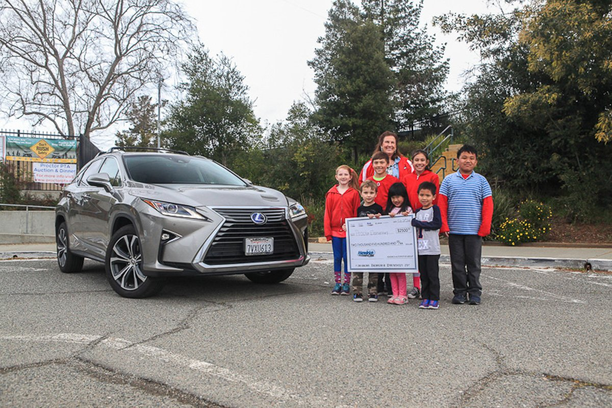 Lexus of Pleasanton is participating in Lexus Give Amazing We had a great opportunity to support Proctor Elementary School in Castro Valley by donating $2500. This donation has boosted many of their such as arts and computer programs for the students there. #GiveAmazing