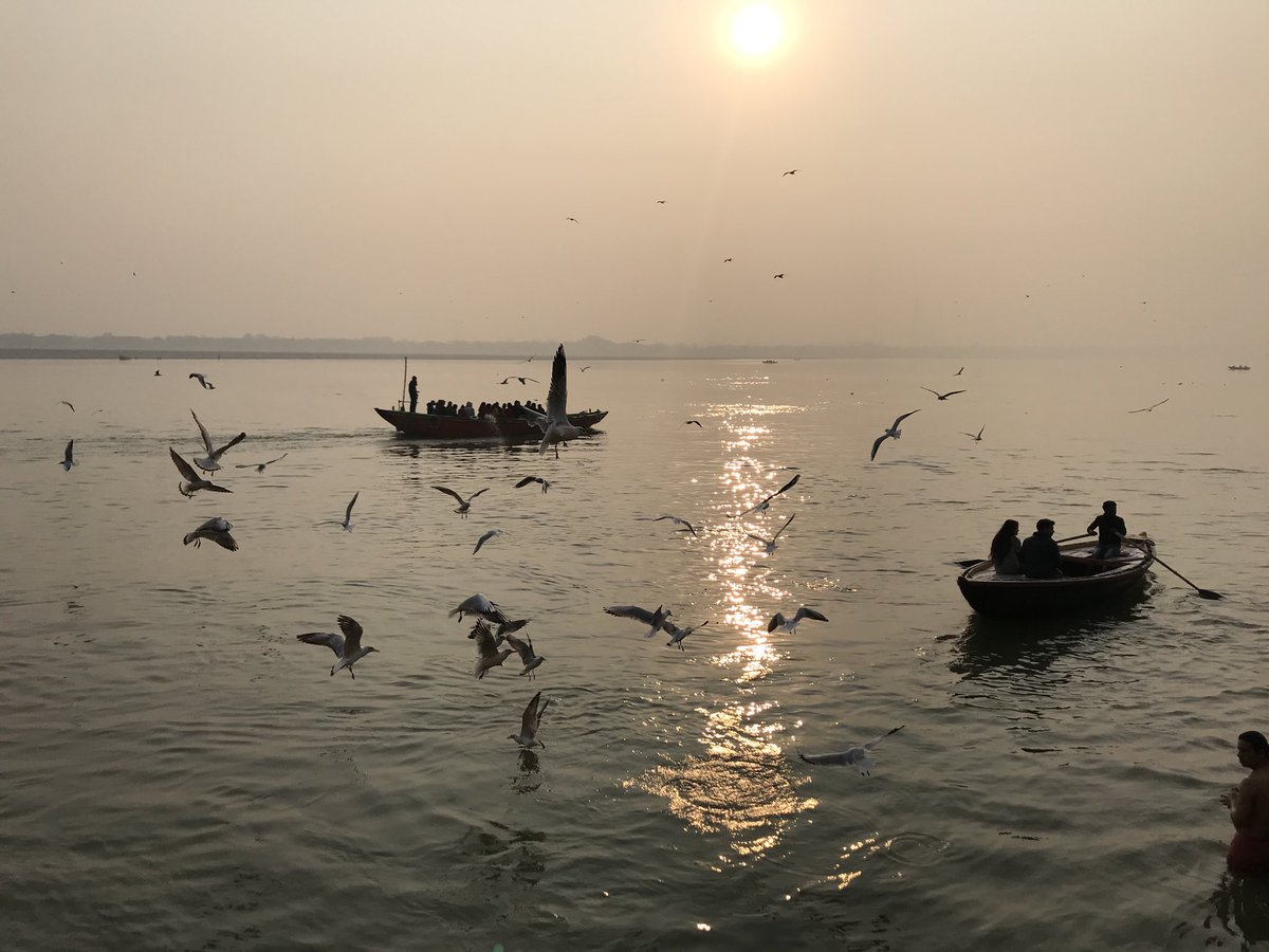 On the Ganges, checking out efforts to deal with plastic waste. Stay tuned.