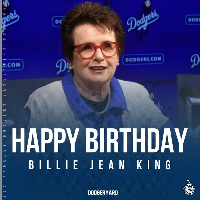 Happy birthday, Billie Jean King!