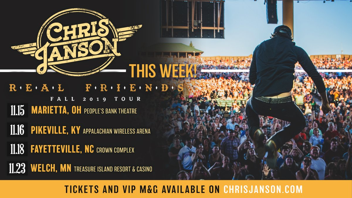Get your tickets now! See you tonight Ohio! chrisjanson.com/tour