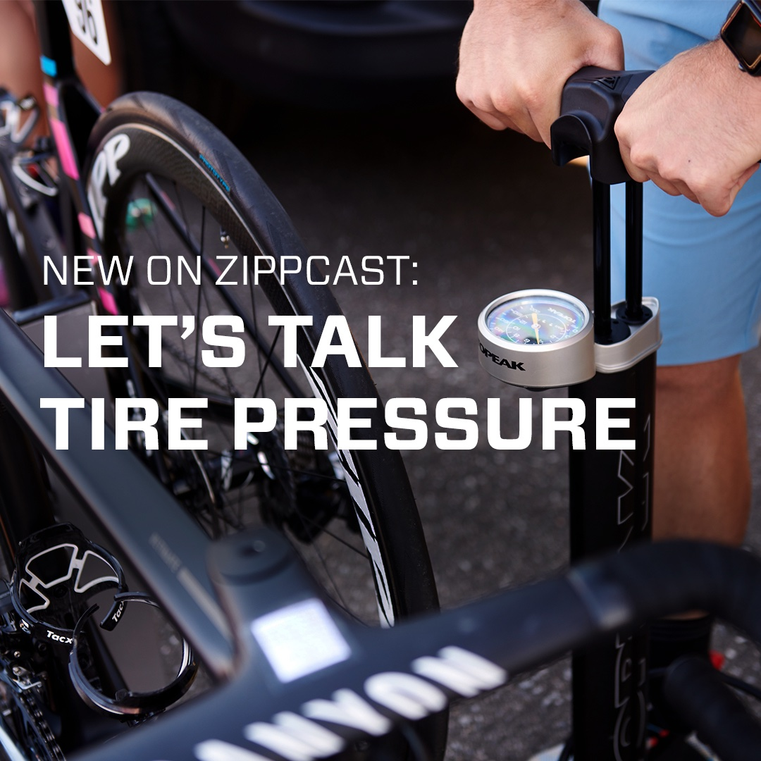Let's talk tire pressure.   New #ZippCast 👇  https://t.co/MmFMS0wrHH  #zippspeed #makingyoufaster #roadcycling #quarqtyrewiz https://t.co/xSgihSilqc