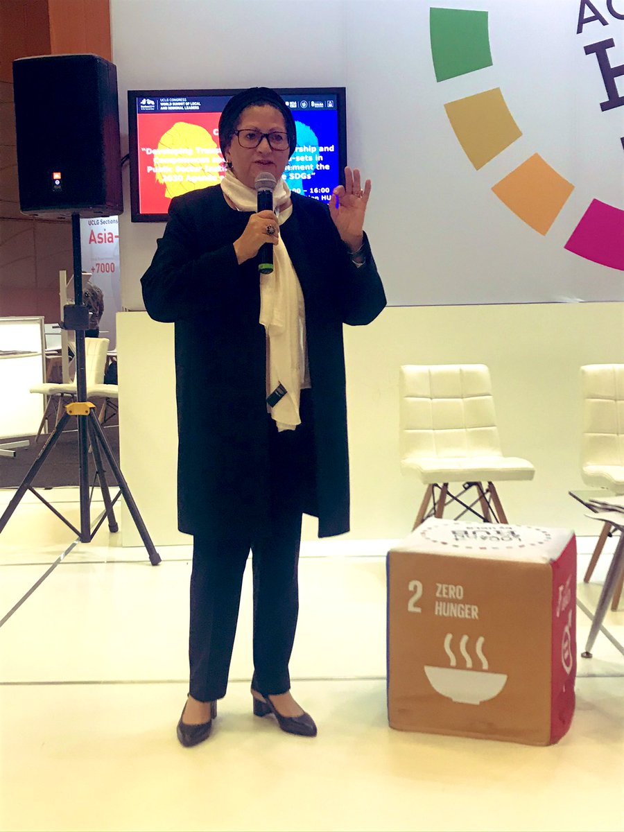 """We need to invest in win-win partnerships."" Najat Zarrouk, Director of the African Local Government Academy (ALGA), UCLG Africa #TransformationalLeadership"