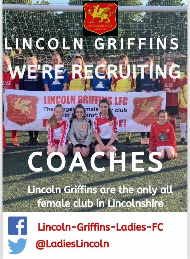 We are the biggest female only football club in Lincolnshire and currently have 90 girls registered with us. We are growing all the time so we are looking to recruit more coaches into the club  If you are looking for a coaching opportunity, please get in touch with us <br>http://pic.twitter.com/tCrkl0sioA