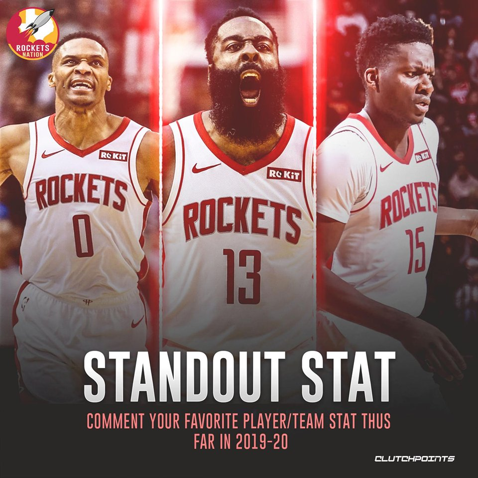 12 games in, which stat from the Rockets strikes you the most? 🧐  #Rockets #OneMission