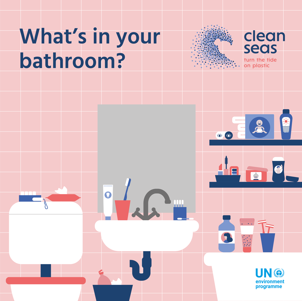 Did you know by using products with plastic ingredients, you could be dangerously polluting our oceans with microplastics? By avoiding the use of these ingredients, you will be doing your part for #CleanSeas. Join the movement with @UNEP! bit.ly/2Kd50zk