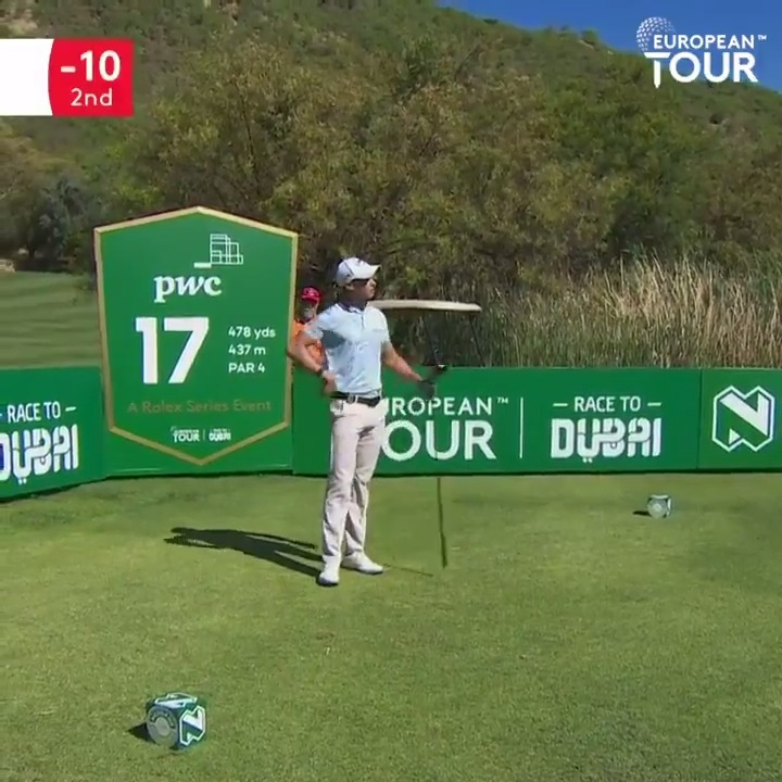 This is it, this is the luckiest break in the history of golf