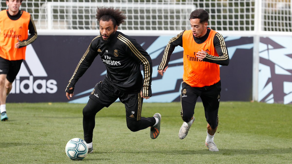 Great to see  @MarceloM12 complete today's session with the rest of the guys at  #RMCity!  #HalaMadrid