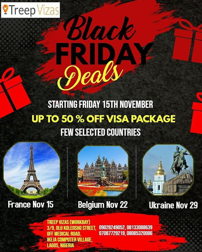 Are you still sleeping on it  Don't be left out, 50% off VISA PACKAGE TO FRANCE  BELGIUM  UKRAINE  <br>http://pic.twitter.com/Vf4DIwczOD