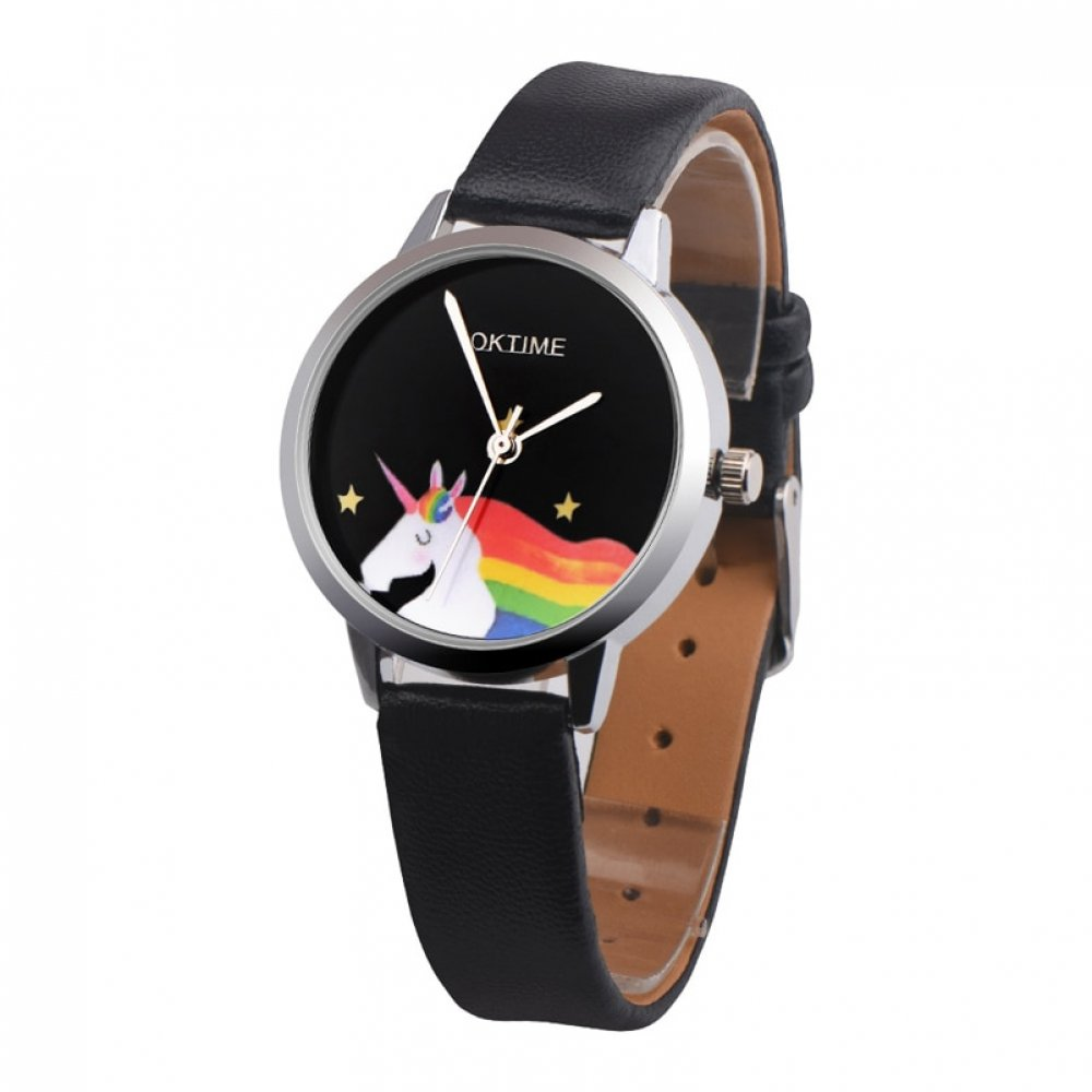 #instadaily #fashionista Rainbow Unicorn Printed Women's Watches https://unicornmagicland.com/rainbow-unicorn-printed-womens-watches/…