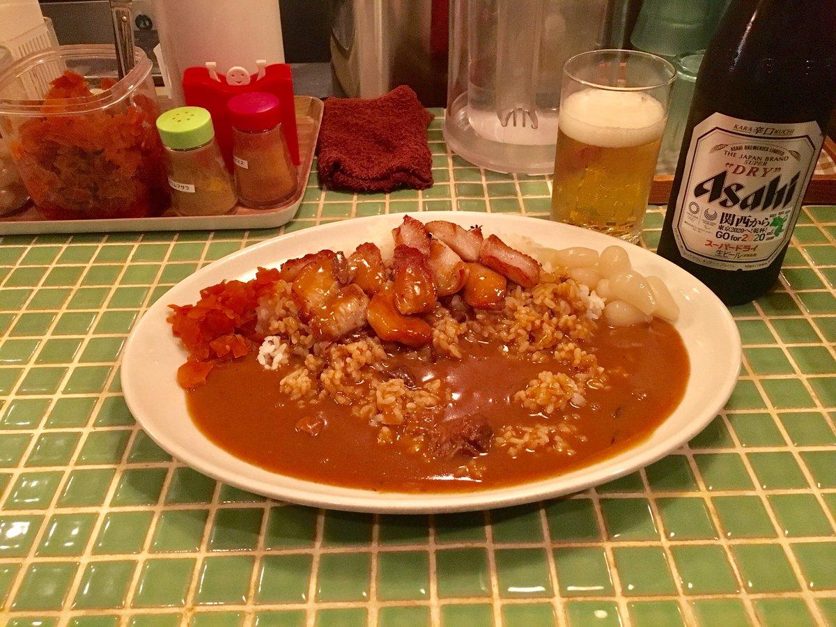 仕事終わりに、好きなカレー食べながらビール飲む金曜日の夜。最高っす😭✨梨花食堂 天満本店なう