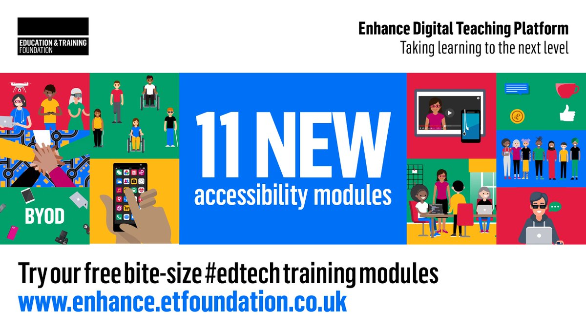 They've launched! We're delighted to announce that the first 11 of our new #EdTech training modules focused on Accessibility are now available on the Enhance Digital Teaching Platform, visit: https://t.co/EEf59HSh0f #DTPF #EnhanceDTP #digitalETF https://t.co/2sY0RDAHFf