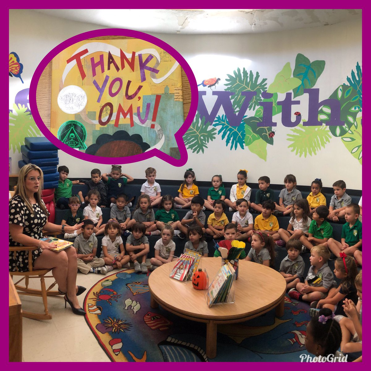 """""""Thank you, Omu"""" and thank you @MDCPS_OECP for promoting literacy and supporting our PK programs. Our 2019 #ReadfortheRecord event was a success!!! @MDCPS @MDCPSSouth"""