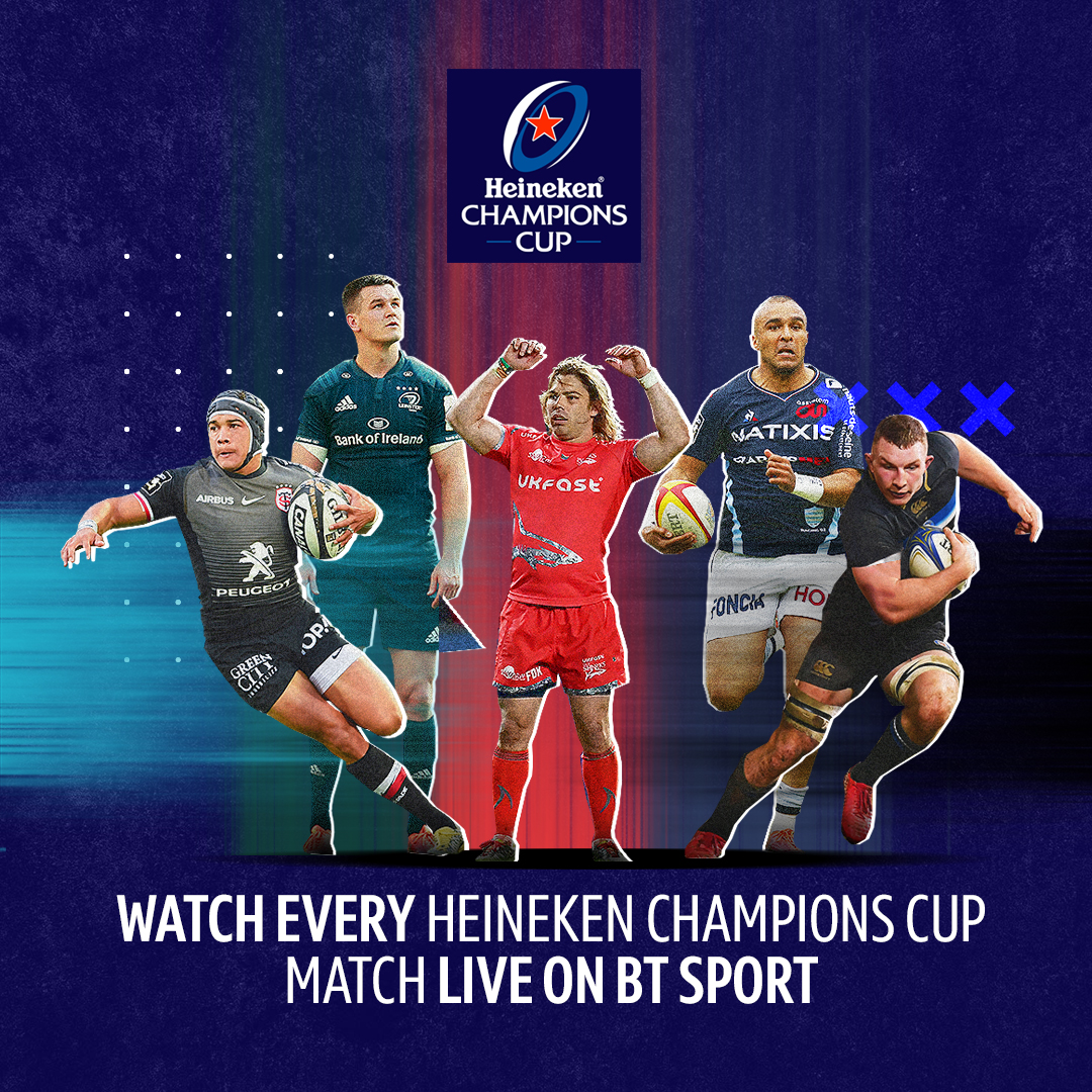 Every. Single. Game. BT Sport is the only place to be to watch the top prize in European rugby!