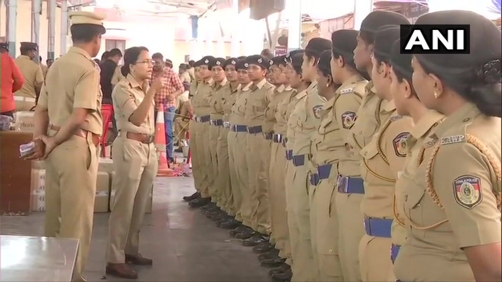 """Kerala: Security deployed & arrangements made in Pathanamthitta, ahead of opening of #SabarimalaTemple tomorrow evening. Devotees will be able to visit the temple from 17 Nov. Dist Collector says """"We have deployed over 800 medical staff & established 16 medical emergency centres"""""""