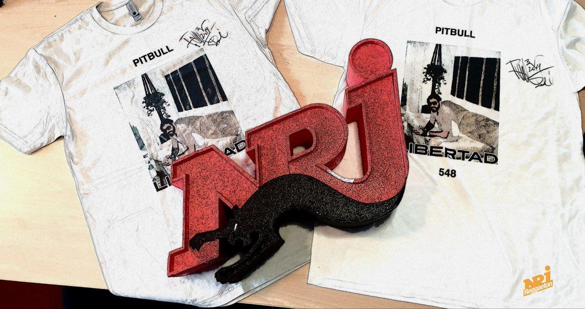 Cest parti pour la semaine spéciale @pitbull sur #NrjReggaeton 🔥🔥 Découvrez son nouvel album #Libertad548 avec @NeYoCompound @iambeckyg @yandeloficial @wisin ... En plus on a des t-shirts dédicacés pour vous ‼️ 👉 RT + follow pour gagner 📻 bit.ly/356fWqi