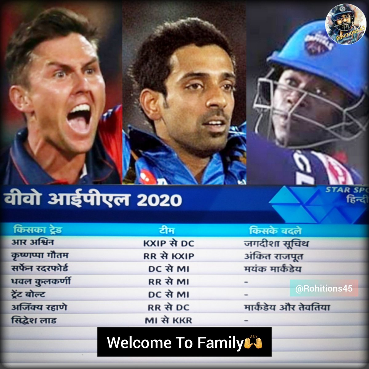 Welcome To Family @trent_boult @dhawal_kulkarni  🙌#TeamIndia #rohitions45 #indvssa #indvsa #rohitopensagain #rohitsharma #rohitsharma45