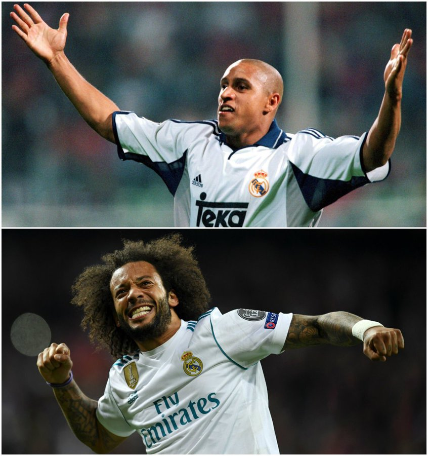 Two legendary  #UCL left-backs:   Roberto Carlos   Marcelo    Pick one!