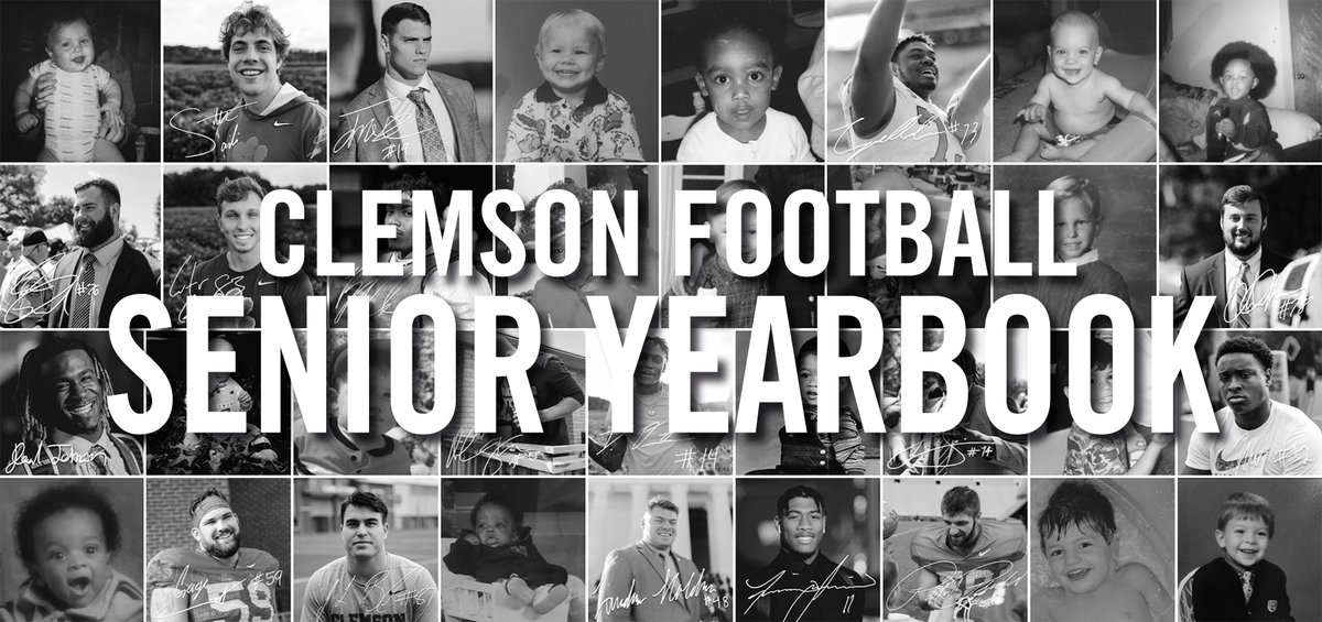 SENIOR YEARBOOK    CLASS OF 19-20  #ClemsonFamily #ALLIN <br>http://pic.twitter.com/D3npzi6tbE