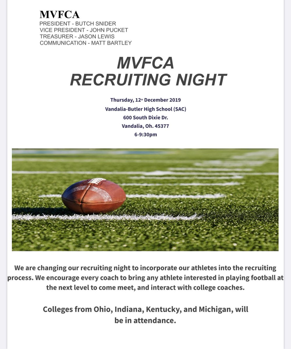 Here is the flyer for the December 12th Recruiting Night spread the word