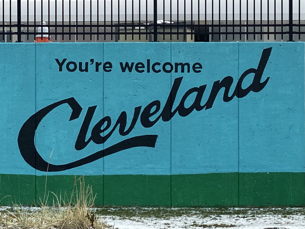 I have arrived... You're Welcome Cleveland! Also, I will NOT be wearing a Mason Rudolph jersey on this trip. Caution: watch for falling football helmets. #INDIVISIBLE