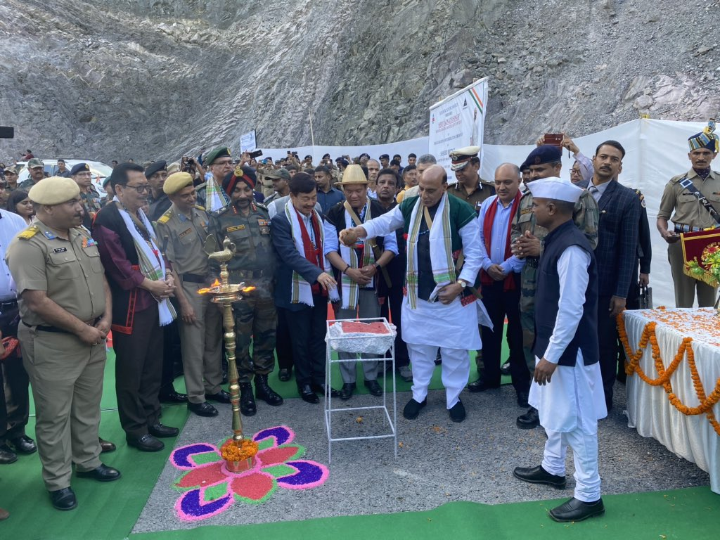 Happy to attend the inauguration ceremony of the Sisseri Bridge built by the Border Road Organisation (BRO) on Pasighat-Bomjir Highway in Arunachal Pradesh. The BRO has made significant progress when it comes to building bridges and roads rapidly in strategic areas.