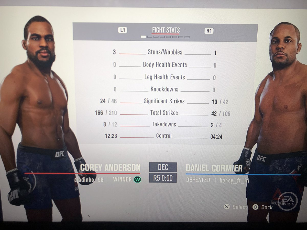 Check those stats man! 🤯 was a good fight!! 👊🏽👊🏽 #ufc #UFC3