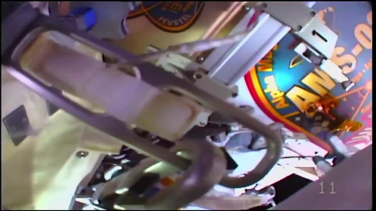 The view from @Astro_Lucas helmet camera as he works to remove fasteners on the Alpha Magnetic Spectrometer debris shield. #AskNASA | nasa.gov/live
