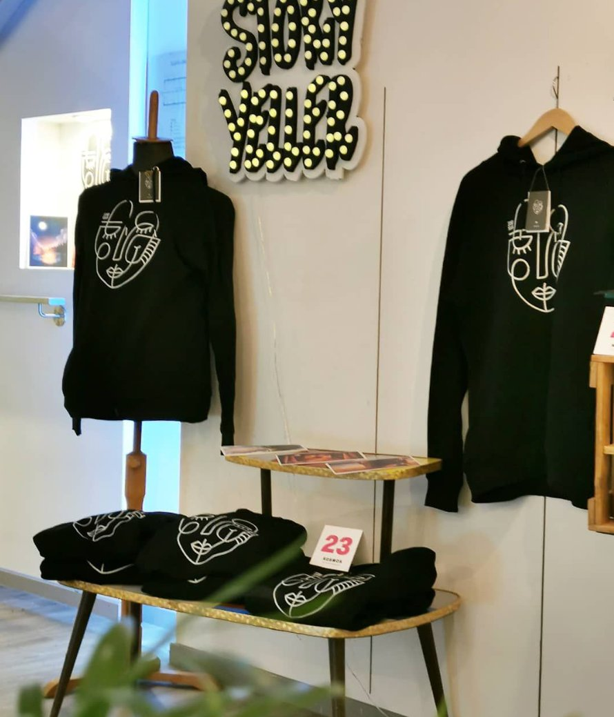 Come visit us at #kosmos concept store!  Grand opening tomorrow at 12:00 PM.  We've made a small collection of #cozy sweaters and sell some of our #illustrations as well.  #conceptstore #hoodie #merchandise #giftideas #kiel #gamedev #jointhekosmos #startup @opencampus_shpic.twitter.com/19vXMf8OUG