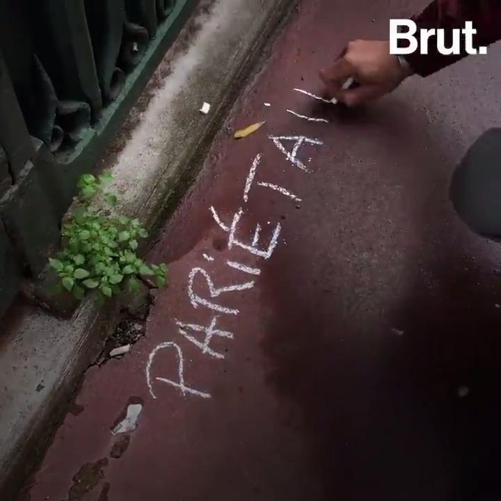 De mystérieuses inscriptions à la craie sont apparues dans les rues de Toulouse. On les doit à ce botaniste. Son but : mettre en lumière les plantes sauvages qui poussent au milieu du bitume. @BrutNatureFR la suivi.