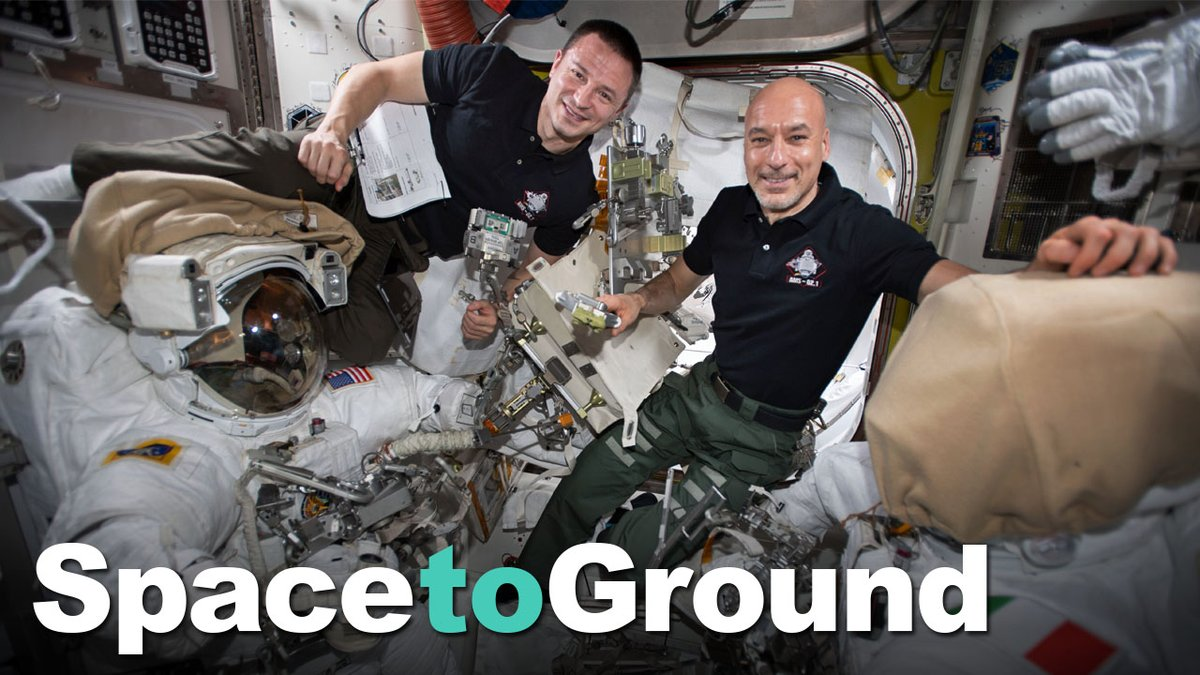 Two astronauts completed the first in a series of complex spacewalks to repair a particle physics experiment. Also, samples that had been exposed to space in an airlock were retrieved for analysis. #SpaceToGround