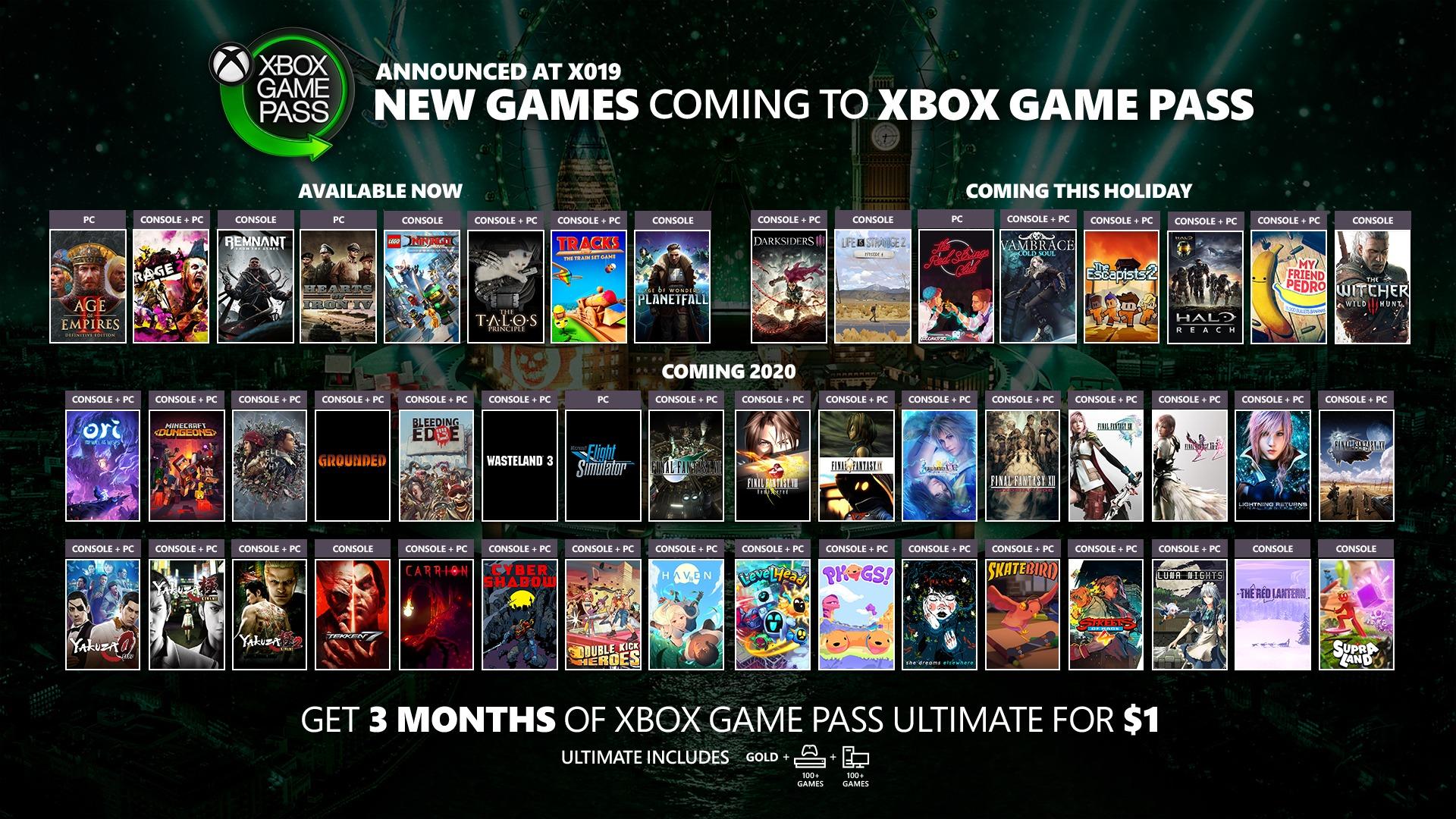 nuevos juegos para Xbox Game Pass