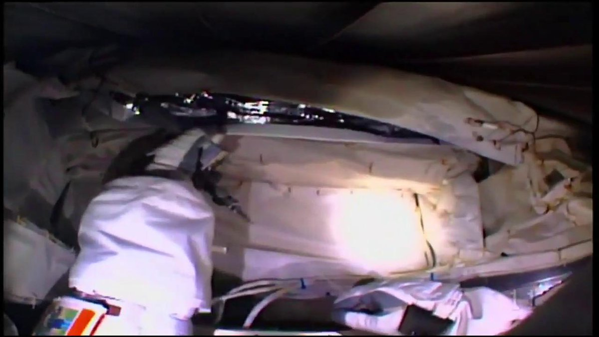 Todays spacewalkers are using a tool to cut and retain zip ties that was developed by STEM students. Learn more about the zip-tie cutter here: go.nasa.gov/2O4M31e
