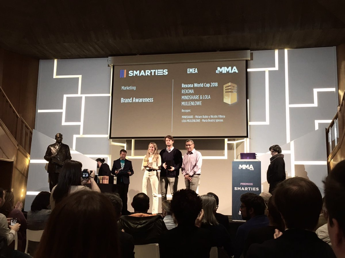 We also join as #TeamMindshare winners at the MMA awards this week! We have won 4 Golds and 1 Silver. Congratulations to @RexonaESP @Universal_Spain @cabify_espana and @BBVA_espana Go teams! #smartiesawards @mma_spainpic.twitter.com/2sRePIHlKX