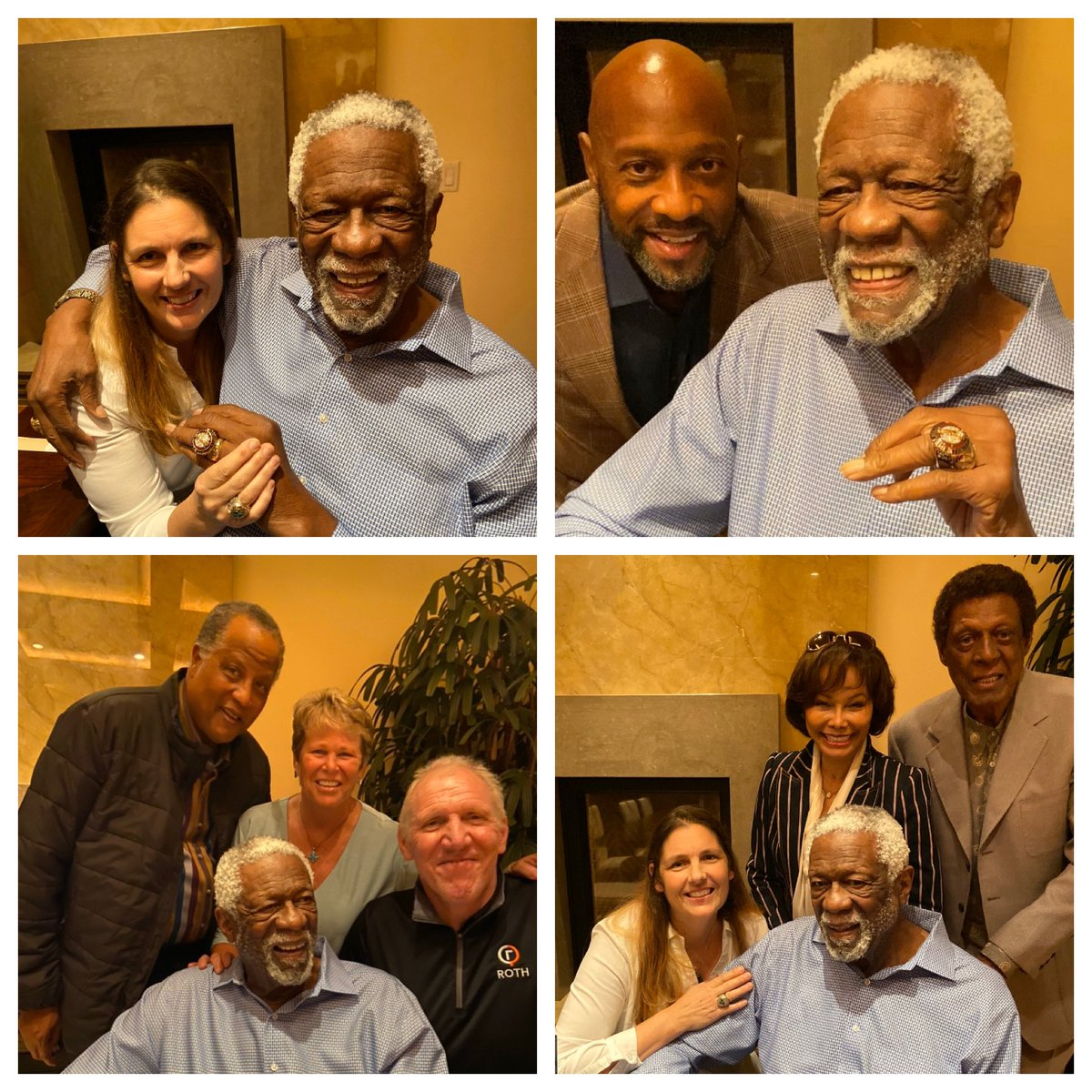 In a private ceremony w/my wife & close friends A.Mourning @AnnMeyers @billwalton & others I accepted my #HOF ring. In '75 I refused being the 1st black player to go into the @Hoophall I felt others before me should have that honor. Good to see progress; ChuckCooperHOF19 @NBA