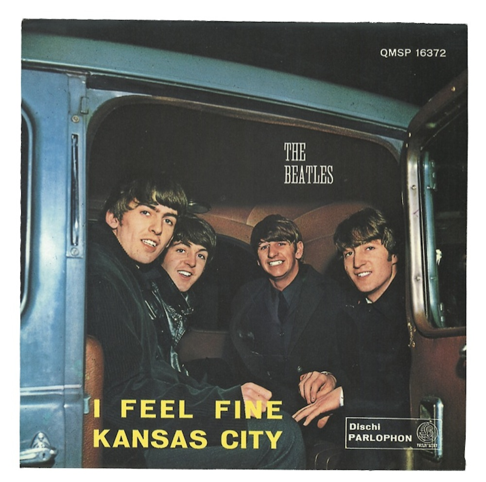 I Feel Fine / Kansas City single sleeve - Italy, 1964
