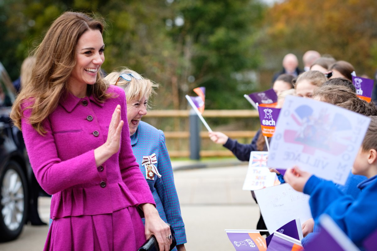 Kate Middleton Wows In Pretty Purple Skirt Suit Look In Norfolk