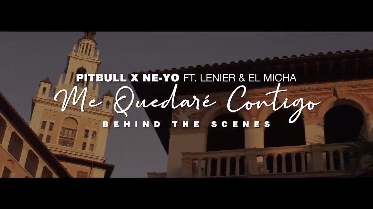 Its time to go behind the scenes with yours truly, @neyocompound, @LenierMesa and #ElMicha on the Me Quedaré Contigo video shoot 🔥smarturl.it/ContigoBTS