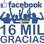 Image for the Tweet beginning: Ya somos más de 16.000!!!