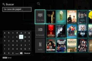 Streaming integrado: el buscador de Flow ahora suma los contenidos de Netflix