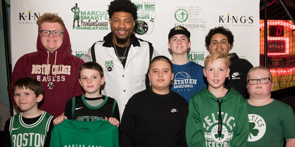 A HUGE thank you to Boston @celtics guard @smart_MS3 for inviting 8 of our pediatric patients & their families to be special guests at his Bowling Bash fundraiser this past Tuesday night! The kids met, bowled and took photos with Celtics players and had an amazing time!