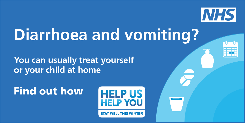 Norovirus outbreaks can spread quickly. The best course of action is to stay at home and treat the symptoms yourself, it is important to drink plenty of fluids to prevent dehydration especially in the very young, elderly or those with weakened immunity: nhs.uk/norovirus
