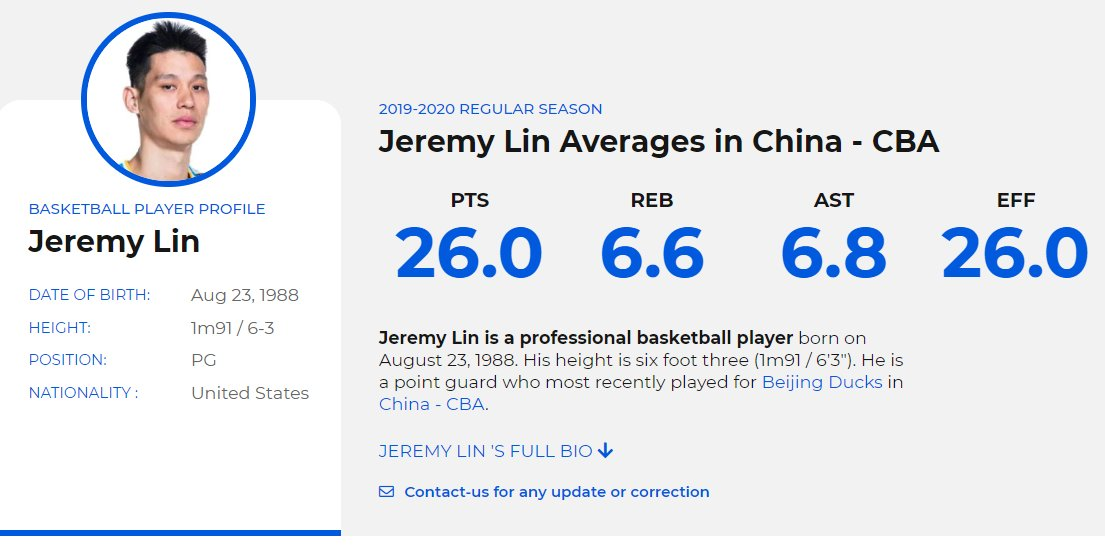 @JLin7 averages 26 Points/6.8 Assists/6.6 Rebounds 🔥🏀as he led the Beijing Ducks to 5-1 record to start the season  A strong candidate for CBA MVP? Will #NBA start paying attention again?🧐