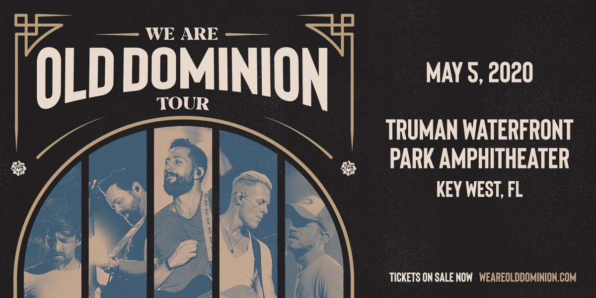 Tix for the show in Key West FL on May 5 are on sale now. Tix here bit.ly/2NE0ufo #weareolddominion