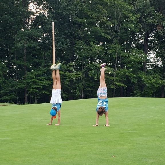 How do you celebrate your final match of the season? Handstands, of course!