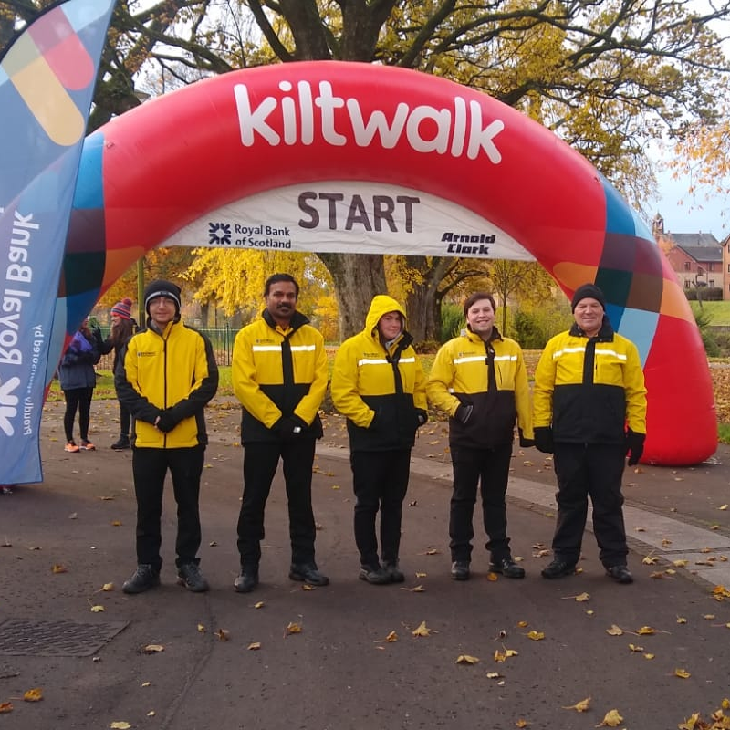 On Saturday 9th October, Showsec had the honour of offering their services to the pop up @thekiltwalk in Dumfries.  Participants walking around the city were raising money for chosen charities with entertainment also on show.  #teamshowsec #PopUpKiltwalk #security #kiltwalk
