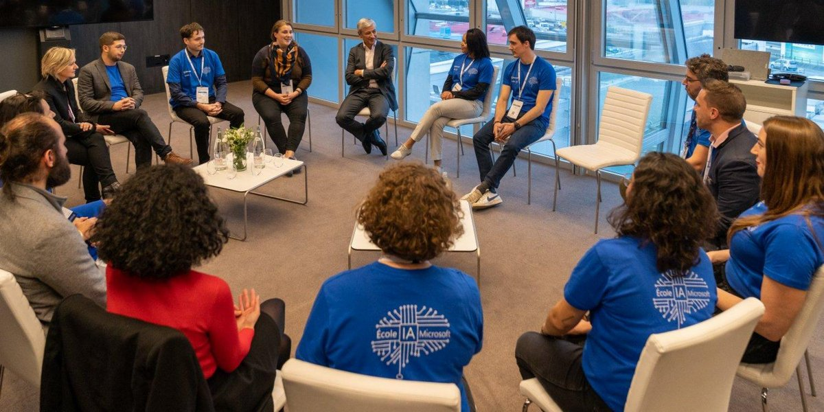 From self-taught coders to long-time computer science students, our AI School students are passionate and diverse learners striving to seize the opportunities offered by France's digital transformation. I loved our conversation in Paris yesterday! #MicrosoftLife #ecoleIAmicrosoft